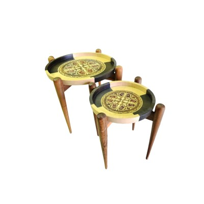 Wooden Hand Painted Side Table (L)